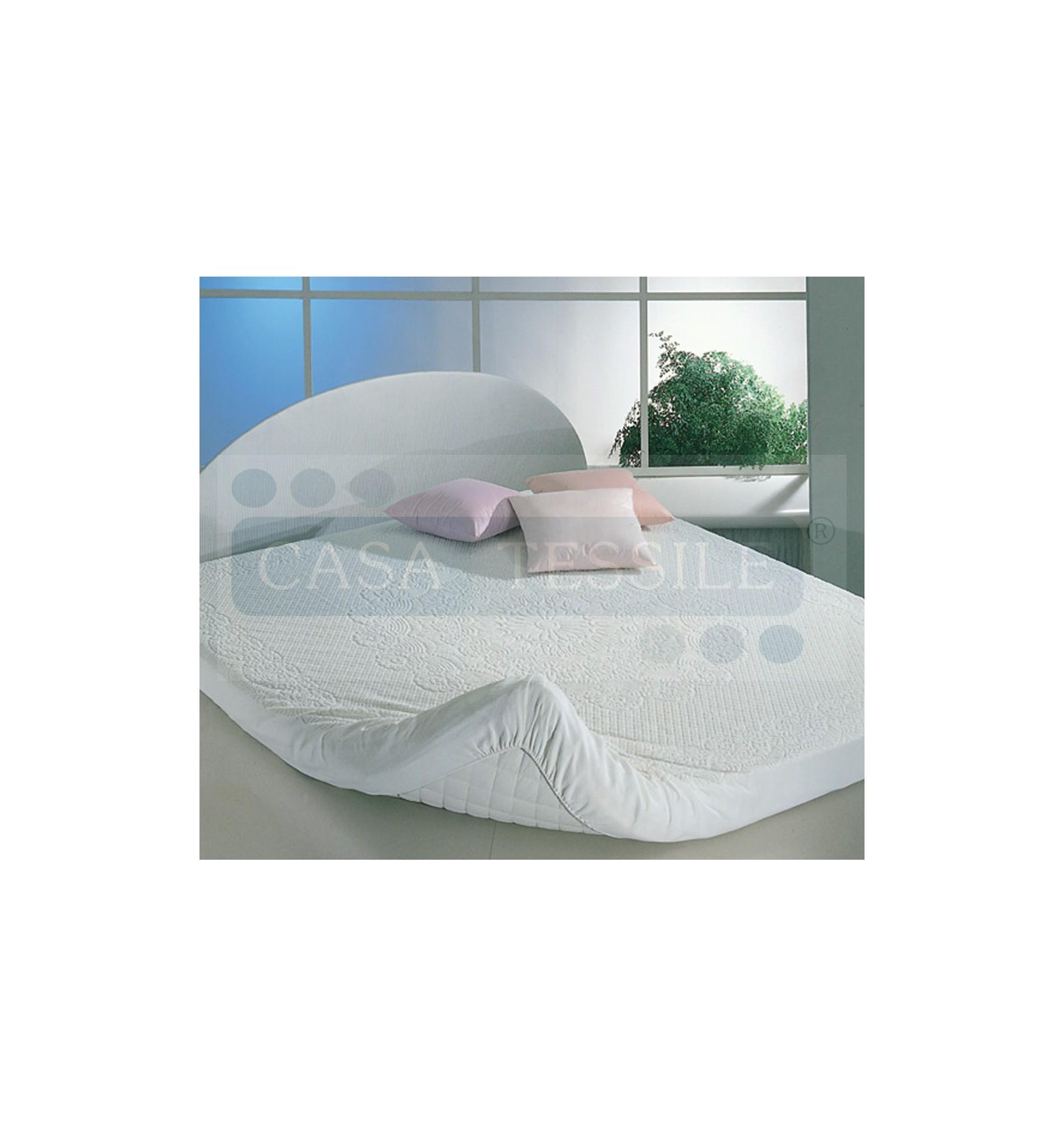 Traversa copri materasso in spugna 1 piazza e mezza letto cm 125x200 casa tessile - Misure letto 1 piazza e mezza ...