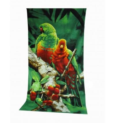 Pappagalli DIGITAL ART towel sponge 86x160 cm.