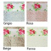 Flora bathroom rug resinated various sizes