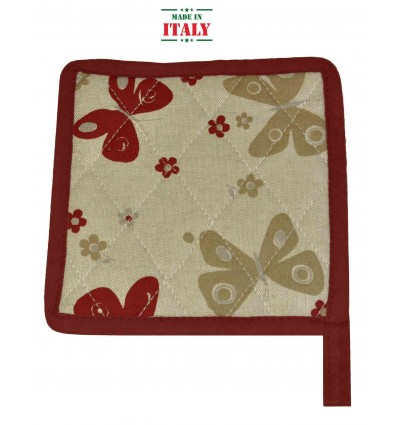 Farfalle Kitchen pot holder 18 x 18 cm.