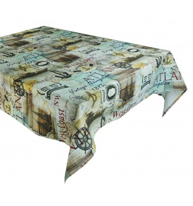 Voyager tablecloth cotton resin