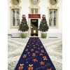 Christmas blue CHRISTMAS ORNAMENTS rug runner 97x100 cm. B3